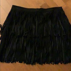 H&M mini skirt with fringe